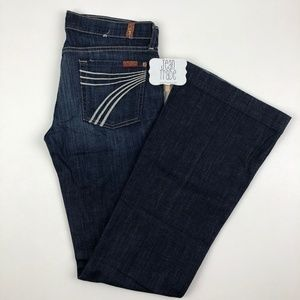 7 for all mankind dojo flare jeans 28x34